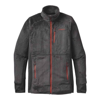 Patagonia M's R2 Jacka Forge Grey w/Cusco Orange
