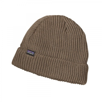Patagonia Fisherman's Rolled Beanie Ash Tan